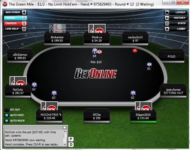 bet online poker mobile