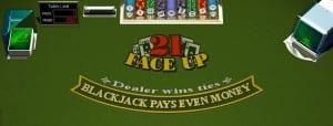 Play Face Up 21 Blackjack At Las Vegas USA Casino - $3000 Bonus